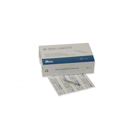 Lancetas estériles caja 200 unidades