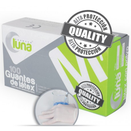GUANTE LATEX DISPENSADOR 100 unds.