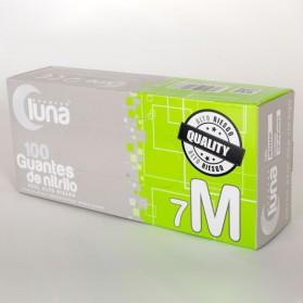 Guantes luna de nitrilo azul sin polvo alto riesgo - Caja de 100 unidades